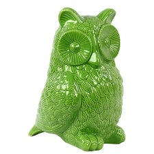 Ceramic Owl Gloss Amber