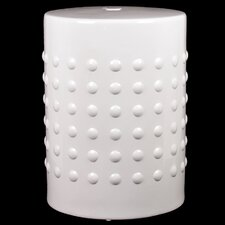 Ceramic Stool Pimpled Gloss Red