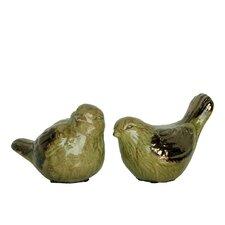 2 Piece Ceramic Bird Set