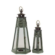 Wooden Lantern Set of Two