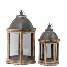 Wooden Lantern (Set of 2)