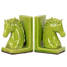 Stoneware Horse Bookend