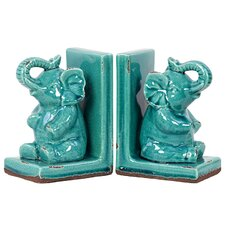 Stoneware Elephant Book Ends (Set of 2)
