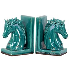 Stoneware Horse Book End (Set of 2)