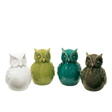 Ceramic Owls (Set of 4)