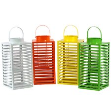 4 Piece Metal Lantern Set