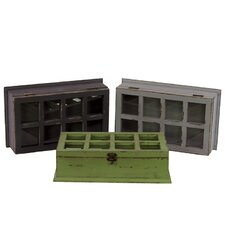 <strong>Urban Trends</strong> Wooden Cabinet Set of Three (Set of 3)