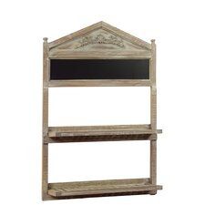 Wooden Shelf with Blackboard