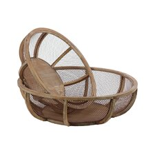 Wooden Wire Basket (Set of 2)