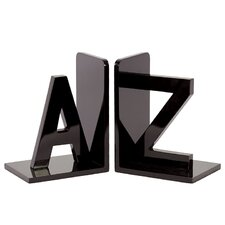 Wooden AZ Bookends (Set of 2)