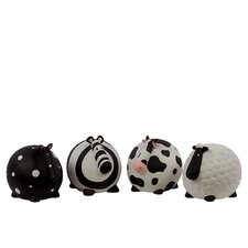 Ceramic Assorted Money Banks (Set of 4)