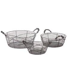 3 Piece Metal Basket Set II