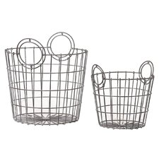 Metal Basket Set of Two (Set of 2)