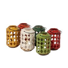 <strong>Urban Trends</strong> 6 Piece Ceramic Lantern Set