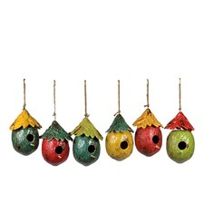 Fruit Hanging Bird Houses (Set of 6)