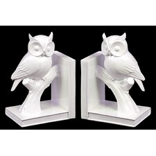 <strong>Urban Trends</strong> Ceramic Owl Book Ends (Set of 2)