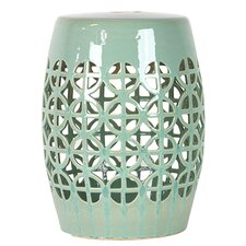 Ceramic Garden Stool Open Work-