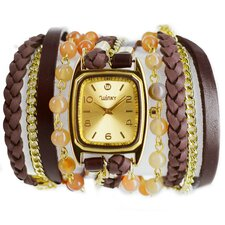 Sweet Dreams Women's Crème Brûlée Wrap Watch