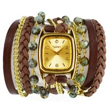 Sweet Dreams Women's Mint Chocolate Chip Wrap Watch