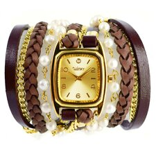 Sweet Dreams Women's Vanilla Souffle Wrap Watch