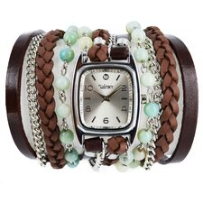 Sweet Dreams Women's Green Tea Ice Cream Wrap Watch