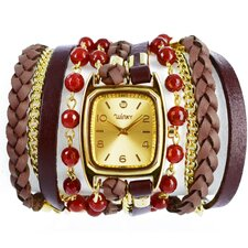 Sweet Dreams Women's Red Velvet Wrap Watch