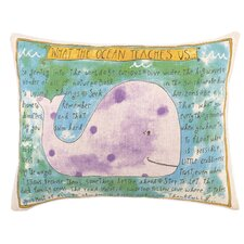 What The Ocean Teaches Us Feather Down Pillow