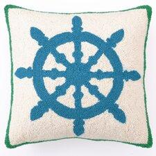 Captain's Wheel Wool Pillow