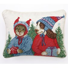Good Will to All Needlepoint Pillow
