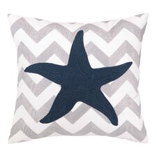 Nautical Embroidery Seastar Pillow