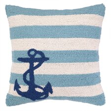 Nautical Hook Anchor Stripes Pillow
