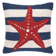 Nautical Hook Seastar Stripe Pillow