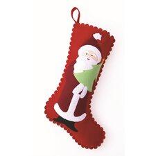 Santa and Tree Felt Stocking