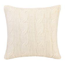 Modern Heirloom Cable Knit Throw Pillow