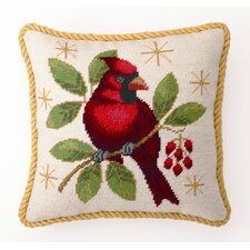 Winter Cardinal Decorative Wool / Cotton Pillow