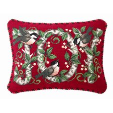 Joy Chickadee Wool / Cotton Pillow