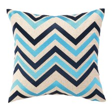 Chevron Embroidered Decorative Pillow