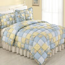 <strong>Peking Handicraft</strong> Joan 3 Piece Puff Quilt Set