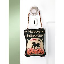 "<strong>Peking Handicraft</strong> ""Happy Halloween"" Needlepoint Door Hanger"
