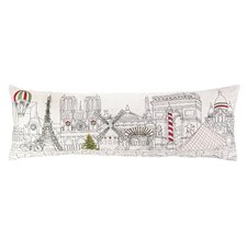 Christmas in Paris Embroidery Pillow