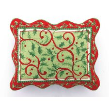 Holly Days Needlepoint Pillow
