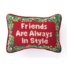 """Friends"" Needlepoint Pillow"