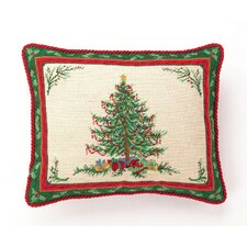 Classic Christmas with Berry Needlepoint Pillow