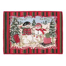Christmas at the North Pole Snowman Rug