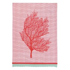 Coral Stripes Kitchen Towel