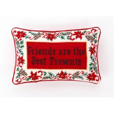 Friends Are The Best Presents Decorative Wool / Cotton Pillow