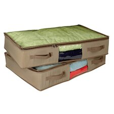 Cedar Inserts Underbed Canvas Chest (Set of 2)