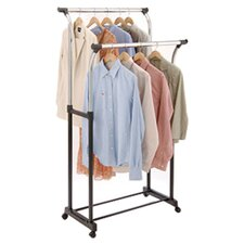 Free Standing Storage Flared Double Garment Rack