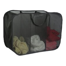 Laundry Micro Mesh 3 Compartment Pop Up Hamper