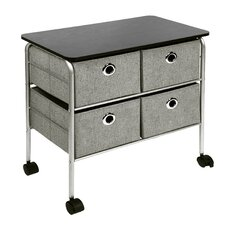 "23.75"" 4 Drawer Eyelet Cart"